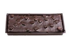 μακρο γκοφρέτα σοκολάτ&alp Στοκ Εικόνες