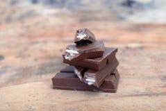 μακρο γλυκό κομματιών επιδορπίων σοκολάτας στοκ εικόνες με δικαίωμα ελεύθερης χρήσης