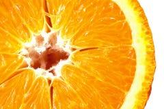 Μακρο εικόνα του ώριμου πορτοκαλιού στενό πορτοκάλι επάνω Στοκ Φωτογραφία