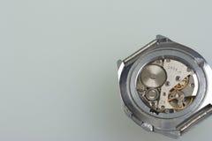 Μακρο λεπτομέρεια μηχανημάτων ρολογιών Στοκ φωτογραφίες με δικαίωμα ελεύθερης χρήσης