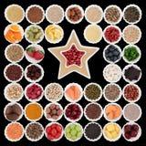 μακρο λευκό στούντιο υγείας τροφίμων νιφάδων καλαμποκιού ανασκόπησης Στοκ εικόνες με δικαίωμα ελεύθερης χρήσης