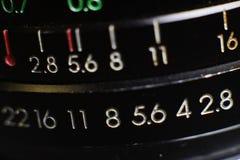 Μακρο κινηματογράφηση σε πρώτο πλάνο φακών καμερών Στοκ φωτογραφίες με δικαίωμα ελεύθερης χρήσης