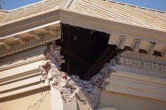 Μακρο κτήριο δικαιοσύνης ζημίας σεισμού Στοκ Εικόνα