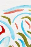 Μακρο κυματιστές γραμμές 7 Watercolour απεικόνιση αποθεμάτων