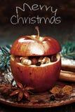 Μακρο κόκκινα Χριστούγεννα Apple, γλυκάνισο στην πλευρά Στοκ φωτογραφία με δικαίωμα ελεύθερης χρήσης