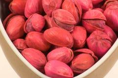 μακρο κόκκινο φυστικιών Στοκ φωτογραφίες με δικαίωμα ελεύθερης χρήσης
