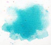 Μακρο μπλε παφλασμός watercolor, που απομονώνεται στο άσπρο υπόβαθρο ελεύθερη απεικόνιση δικαιώματος