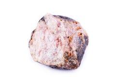 Μακρο ορυκτή πέτρα ανδαλουσίτη σε ένα άσπρο υπόβαθρο Στοκ Εικόνες