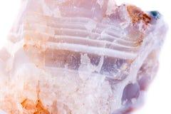 Μακρο ορυκτή πέτρα δολομίτη σε ένα άσπρο υπόβαθρο Στοκ εικόνα με δικαίωμα ελεύθερης χρήσης