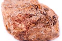 Μακρο ορυκτή πέτρα hemimorphite σε ένα άσπρο υπόβαθρο Στοκ Εικόνες