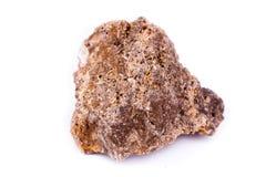 Μακρο ορυκτή πέτρα wulfenite σε ένα άσπρο υπόβαθρο Στοκ φωτογραφίες με δικαίωμα ελεύθερης χρήσης