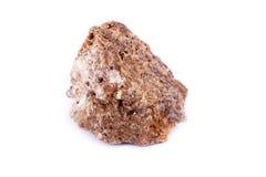 Μακρο ορυκτή πέτρα wulfenite σε ένα άσπρο υπόβαθρο Στοκ Εικόνες