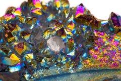 Μακρο ορυκτός χαλαζίας τιτανίου πετρών, χαλαζίας αύρας φλογών σε ένα μόριο στοκ φωτογραφίες με δικαίωμα ελεύθερης χρήσης