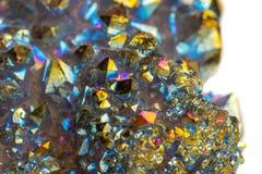 Μακρο ορυκτός χαλαζίας τιτανίου πετρών, χαλαζίας αύρας φλογών σε ένα μόριο στοκ εικόνα με δικαίωμα ελεύθερης χρήσης