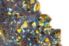 Μακρο ορυκτός χαλαζίας τιτανίου πετρών, χαλαζίας αύρας φλογών σε ένα μόριο στοκ εικόνα
