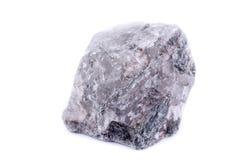 Μακρο ορυκτό Apatite πετρών στο άσπρο υπόβαθρο Στοκ εικόνα με δικαίωμα ελεύθερης χρήσης