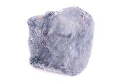 Μακρο ορυκτό Apatite πετρών στο άσπρο υπόβαθρο Στοκ Εικόνα