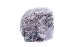 Μακρο ορυκτό Apatite πετρών στο άσπρο υπόβαθρο Στοκ Εικόνες