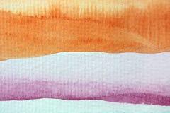 Μακρο ουράνιο τόξο Watercolor απεικόνιση αποθεμάτων