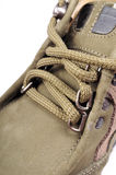 μακρο παπούτσι δαντελλών Στοκ εικόνα με δικαίωμα ελεύθερης χρήσης