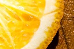Μακρο πορτοκάλι στοκ εικόνα