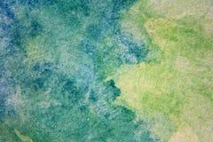 Μακρο πράσινος με τις μπλε συστάσεις 11 Watercolour ελεύθερη απεικόνιση δικαιώματος