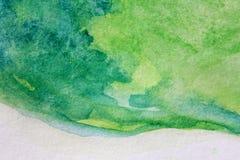 Μακρο πράσινος με τις μπλε συστάσεις 9 Watercolour διανυσματική απεικόνιση