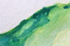 Μακρο πράσινος με τις μπλε συστάσεις 8 Watercolour διανυσματική απεικόνιση