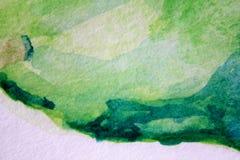 Μακρο πράσινος με τις μπλε συστάσεις 6 Watercolour απεικόνιση αποθεμάτων