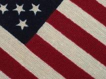 Μακρο πυροβολισμός 4 αμερικανικών σημαιών Στοκ εικόνα με δικαίωμα ελεύθερης χρήσης