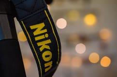 Μακρο πυροβολισμός του λουριού καμερών Nikon Στοκ Φωτογραφία