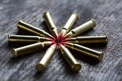 Μακρο πυροβολισμός των μικρών -μικρός-caliber κύκλων ανιχνευτών με το α Στοκ Εικόνες