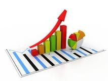 μακρο πωλήσεις επιχειρησιακών δυναμικές γραφικών παραστάσεων στοκ φωτογραφίες