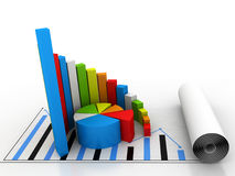 μακρο πωλήσεις επιχειρησιακών δυναμικές γραφικών παραστάσεων στοκ φωτογραφία με δικαίωμα ελεύθερης χρήσης