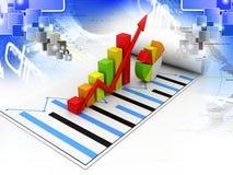 μακρο πωλήσεις επιχειρησιακών δυναμικές γραφικών παραστάσεων στοκ εικόνες