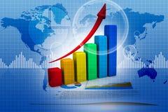 μακρο πωλήσεις επιχειρησιακών δυναμικές γραφικών παραστάσεων Στοκ εικόνα με δικαίωμα ελεύθερης χρήσης