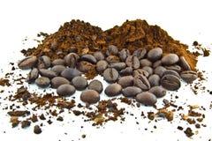 μακρο πλάνο καφέ φασολιών στοκ εικόνα