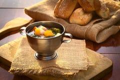 μακρο ρηχό λαχανικό σούπας εστίασης Στοκ Φωτογραφίες