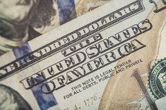 Μακρο στενός επάνω του προσώπου του Ben Franklin ` s στις ΗΠΑ λογαριασμός 100 δολαρίων Στοκ φωτογραφία με δικαίωμα ελεύθερης χρήσης