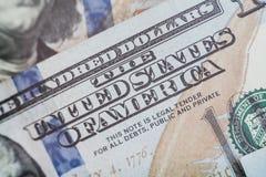 Μακρο στενός επάνω του προσώπου του Ben Franklin ` s στο λογαριασμό αμερικανικών δολαρίων Στοκ φωτογραφία με δικαίωμα ελεύθερης χρήσης