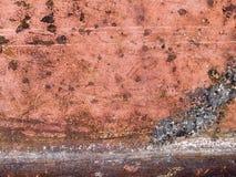 Μακρο σύσταση - μέταλλο - χρώμα αποφλοίωσης Στοκ Εικόνα