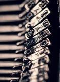 Μακρο φωτογραφία της παλαιάς γραφομηχανής στοκ φωτογραφίες