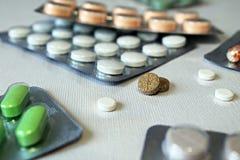 Μακρο φωτογραφία φαρμάκων Στοκ φωτογραφίες με δικαίωμα ελεύθερης χρήσης