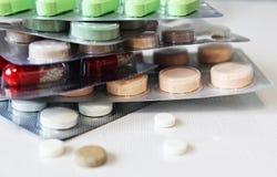 Μακρο φωτογραφία φαρμάκων Στοκ Εικόνες