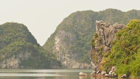 Μακρύς κόλπος εκταρίου βουνών Χώρα του βόρειου Βιετνάμ στοκ εικόνα