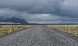 Μακρύς δρόμος Ισλανδία Στοκ Φωτογραφίες