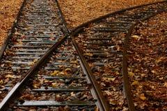 μακρύς σιδηρόδρομος στοκ εικόνες