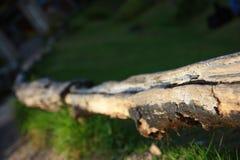 Μακρύς φράκτης κούτσουρων Στοκ φωτογραφία με δικαίωμα ελεύθερης χρήσης
