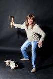 μακρύ άτομο τριχώματος τσ&epsilon Στοκ εικόνες με δικαίωμα ελεύθερης χρήσης