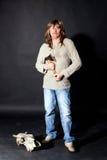 μακρύ άτομο τριχώματος τσ&epsilon Στοκ Εικόνες
